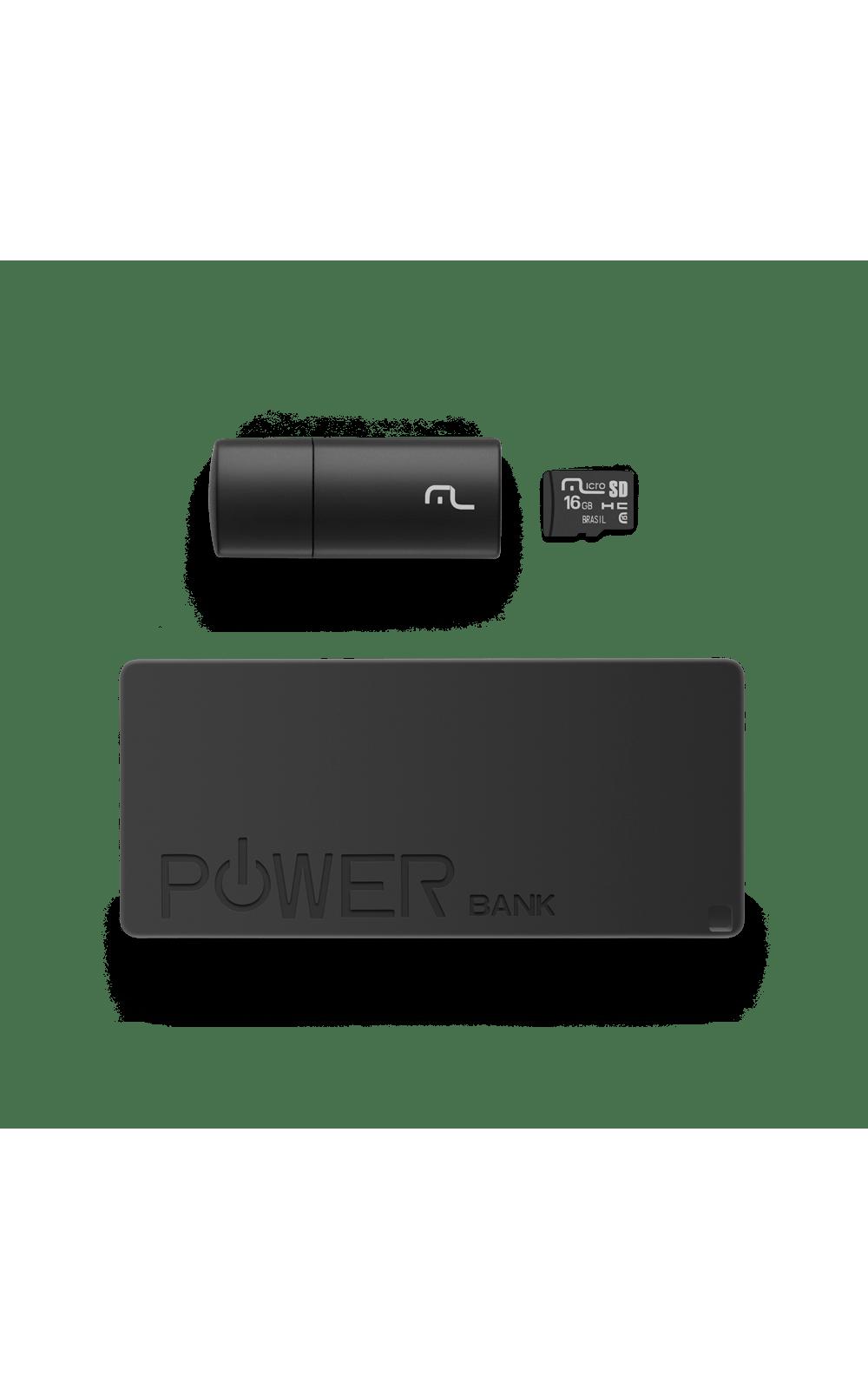 Foto 4 - Kit Power Bank + Pendrive + Cartão de Memória Micro SD com 16GB Multilaser - MC220