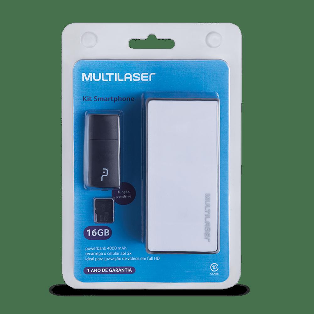 Foto 11 - Kit Power Bank + Pendrive + Cartão de memória Micro SD com 16GB Multilaser - MC220