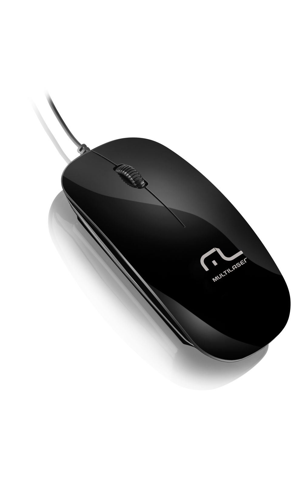 Mouse Multilaser Colors Slim Black Piano USB - MO166