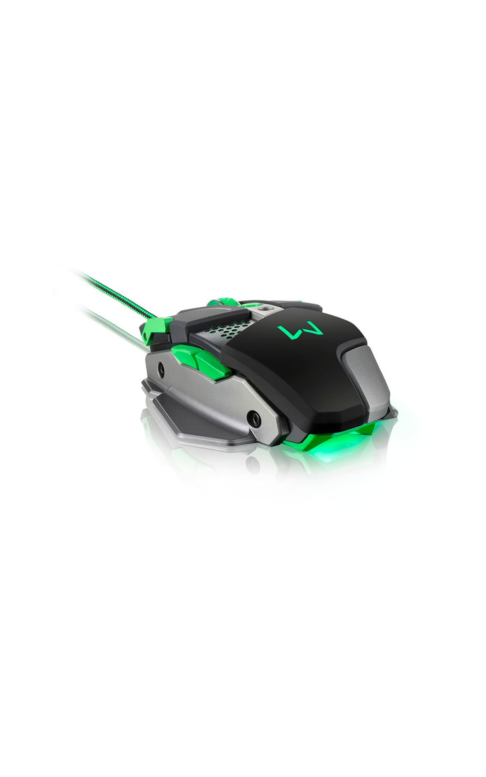 Foto 2 - Mouse Gamer Multilaser Warrior 4000DPI + Função Macro Leds Multimí­dia - MO249