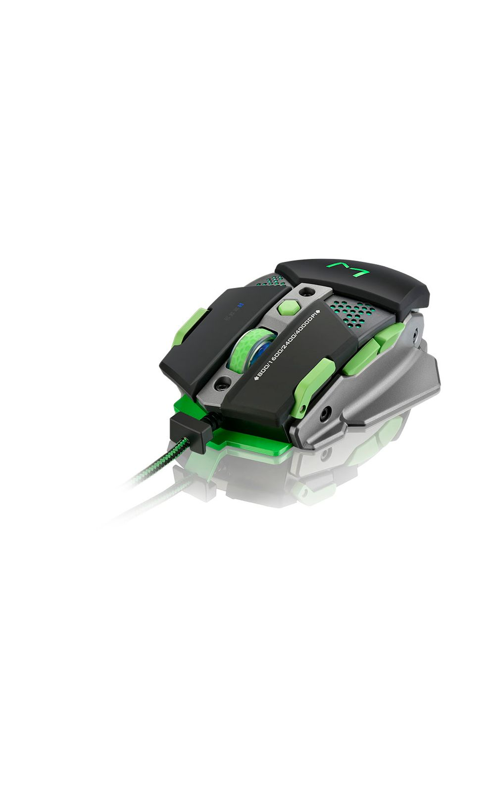 Foto 3 - Mouse Gamer Multilaser Warrior 4000DPI + Função Macro Leds Multimí­dia - MO249