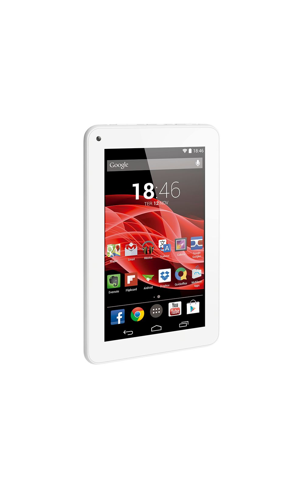 Foto 1 - Tablet Multilaser M7S Branco Quad Core Android 4.4 Kit Kat Dual Câmera Wi-Fi Tela Capacitiva 7 Memória 8GB - NB185