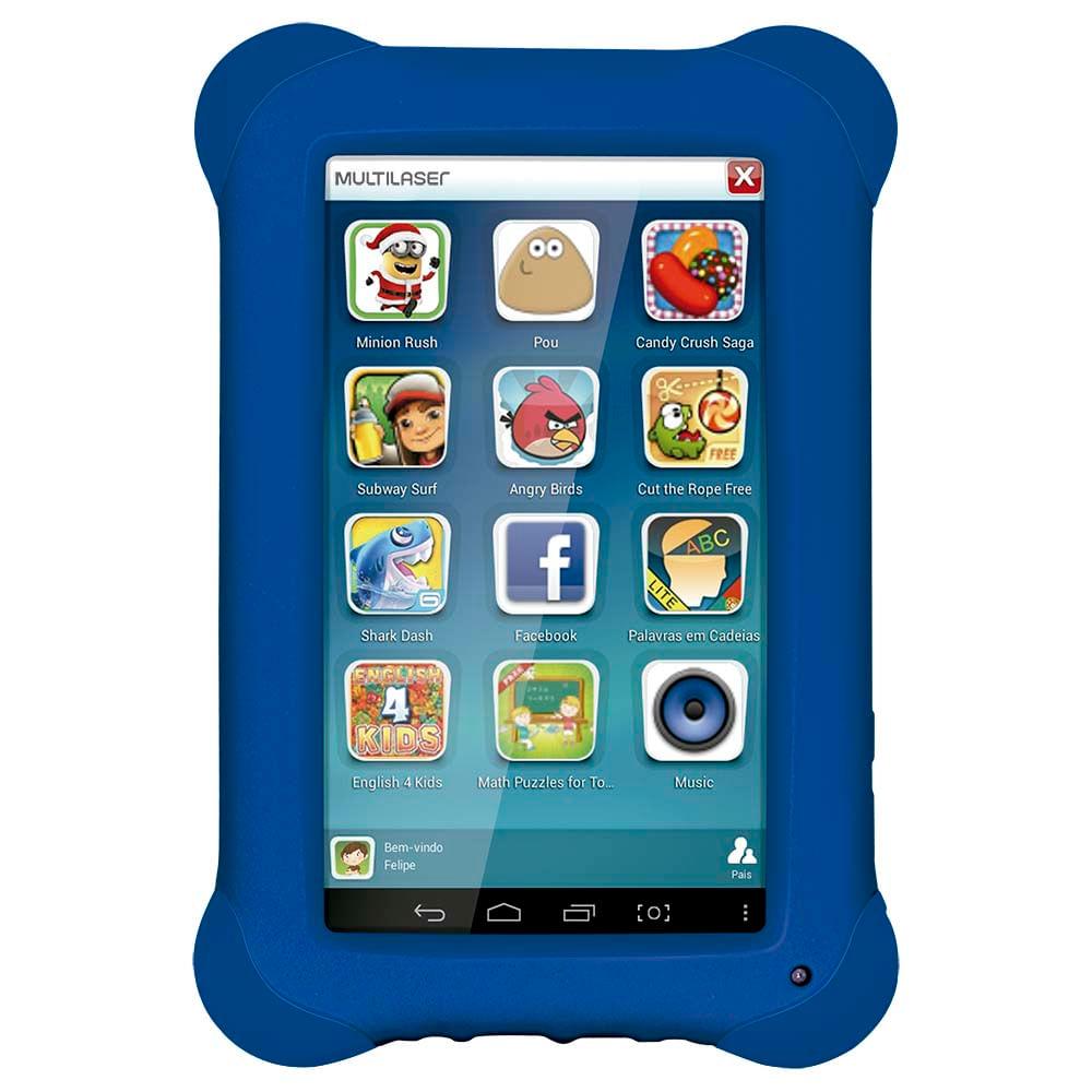 5035040a4270b Tablet Multilaser Kid Pad Azul Quad Core Dual Câmera Wi-Fi Tela ...