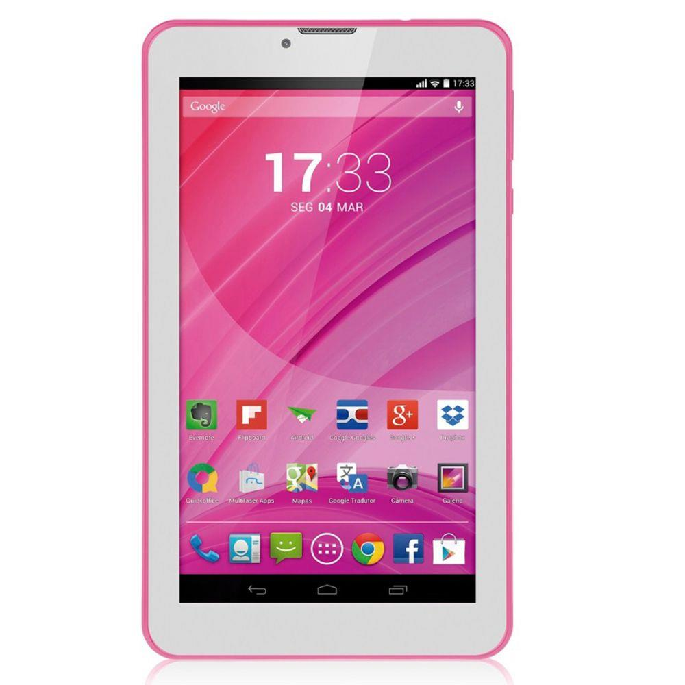 740f8aabf Tablet Multilaser Rosa M7 3G Quad Core Câmera Wi-Fi 7 Pol. 8Gb Dual Chip -  NB225