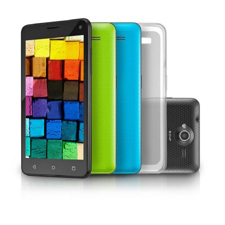 "Smartphone MS50 Colors Preto 5"" 8.0MP 3G Quad 8GB 5.0 Multilaser - NB255"