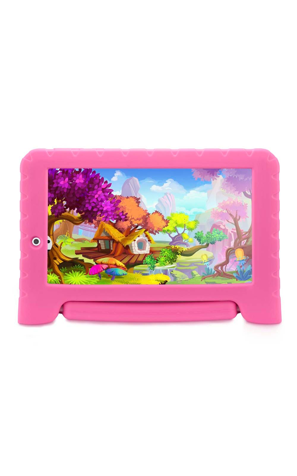 Foto 1 - Tablet Multilaser Kid Pad Plus Rosa 1Gb Android 7 Wifi Memória 8Gb Quad Core Multilaser - NB279