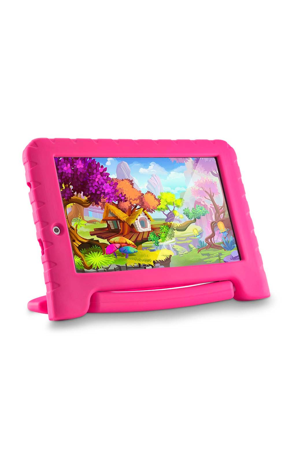 Foto 4 - Tablet Multilaser Kid Pad Plus Rosa 1Gb Android 7 Wifi Memória 8Gb Quad Core Multilaser - NB279