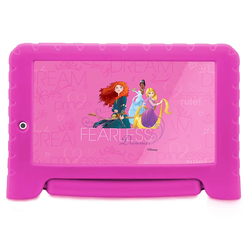2b9bdb6989f90 Tablet Disney Princesas Plus Wifi 8Gb Dual Câmera Android 7 Rosa Multilaser  - NB281