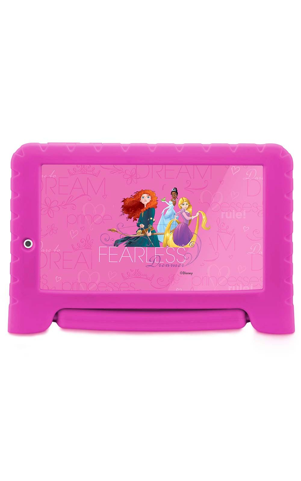 Foto 1 - Tablet Disney Princesas Plus Wifi 8Gb Dual Câmera Android 7 Rosa Multilaser - NB281