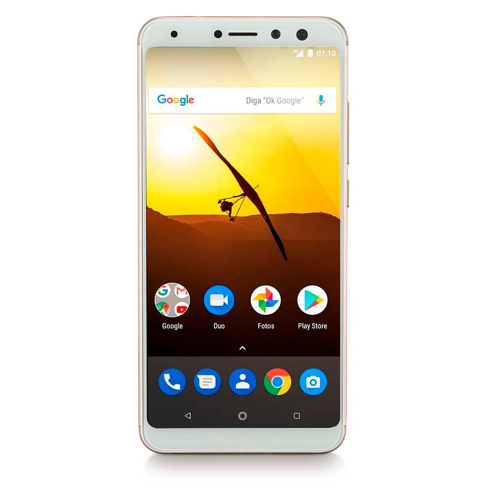 "Smartphone Multilaser MS80 3GB RAM + 32GB Tela 5,7"" HD+ Android 7.1 Qualcomm..."