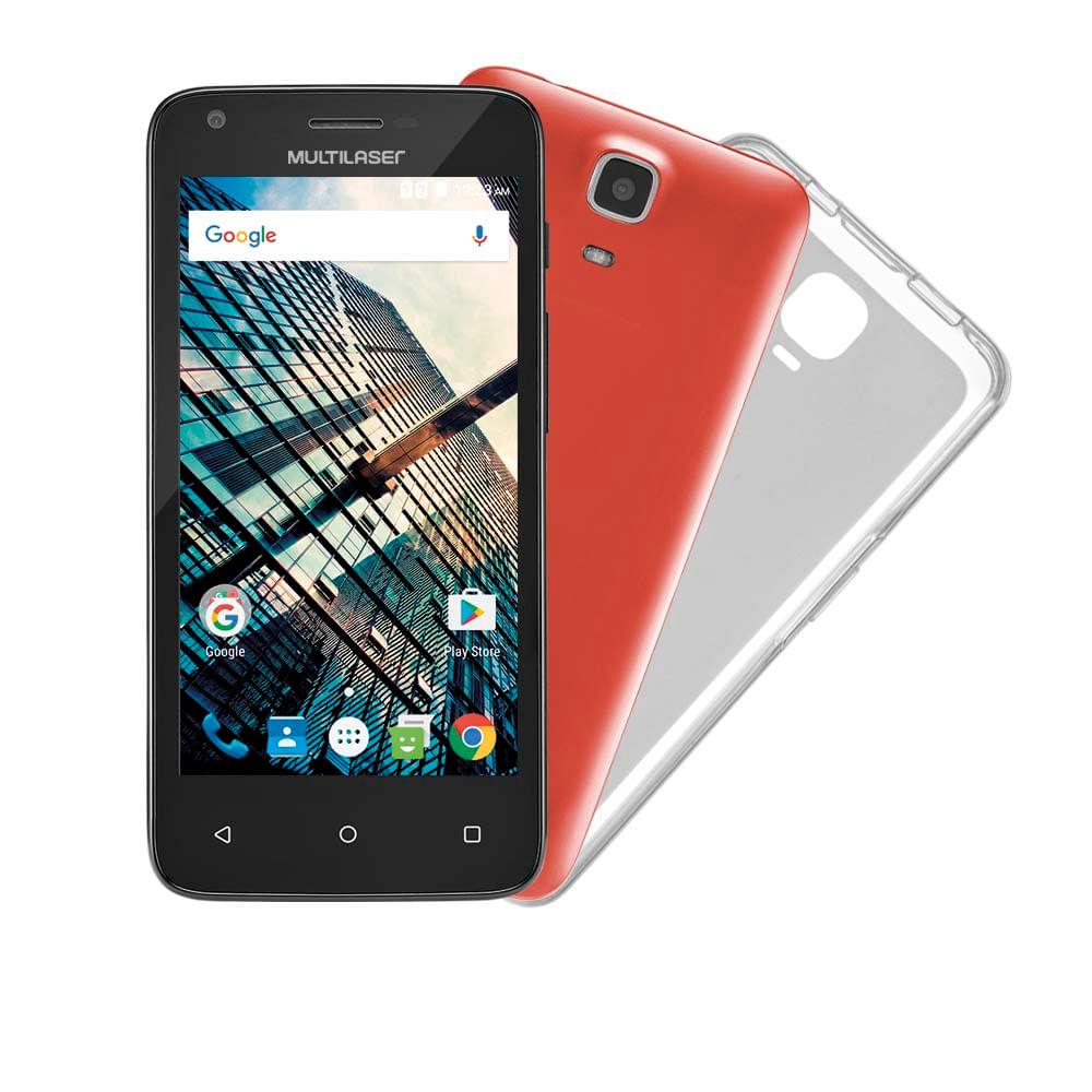a5220aad4f073 Smartphone Multilaser MS45 S Colors Preto Tela 4.5 Pol. Câmera 3 MP + 5 MP  3G Quad Core 8GB 1GB Android 5.1 - P9011