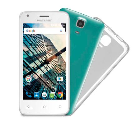 "Smartphone Multilaser MS45S Colors Branco Tela 4.5"" Câmera 3 MP + 5 MP 3G Quad..."