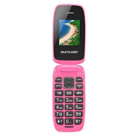 Celular Flip Up Dual Chip Mp3 Rosa Multilaser - P9023