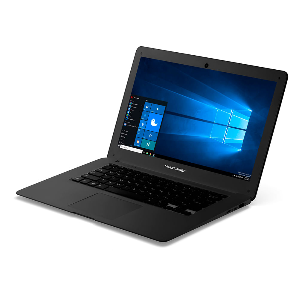 69e6431b6 Notebook Legacy Intel Quad Core Tela Hd 14 Pol. Windows 10 Ram 2Gb  Multilaser Preto - PC101 - multilaser