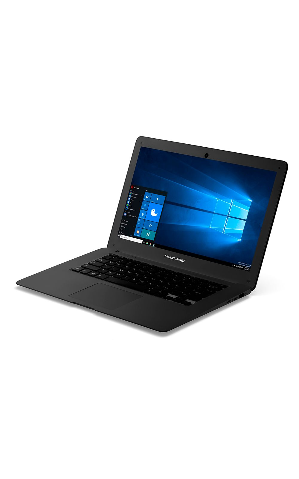 Foto 3 - Notebook Legacy Intel Quad Core Tela Hd 14 Pol. Windows 10 Ram 2Gb Multilaser Preto - PC101