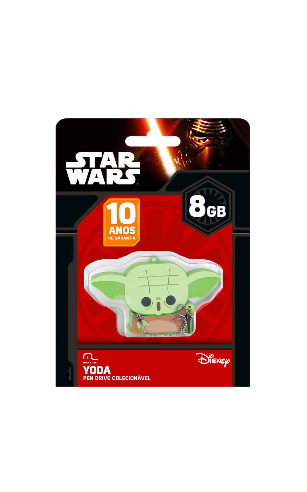 Foto 2 - PENDRIVE YODA 8GB MULTILASER- PD037