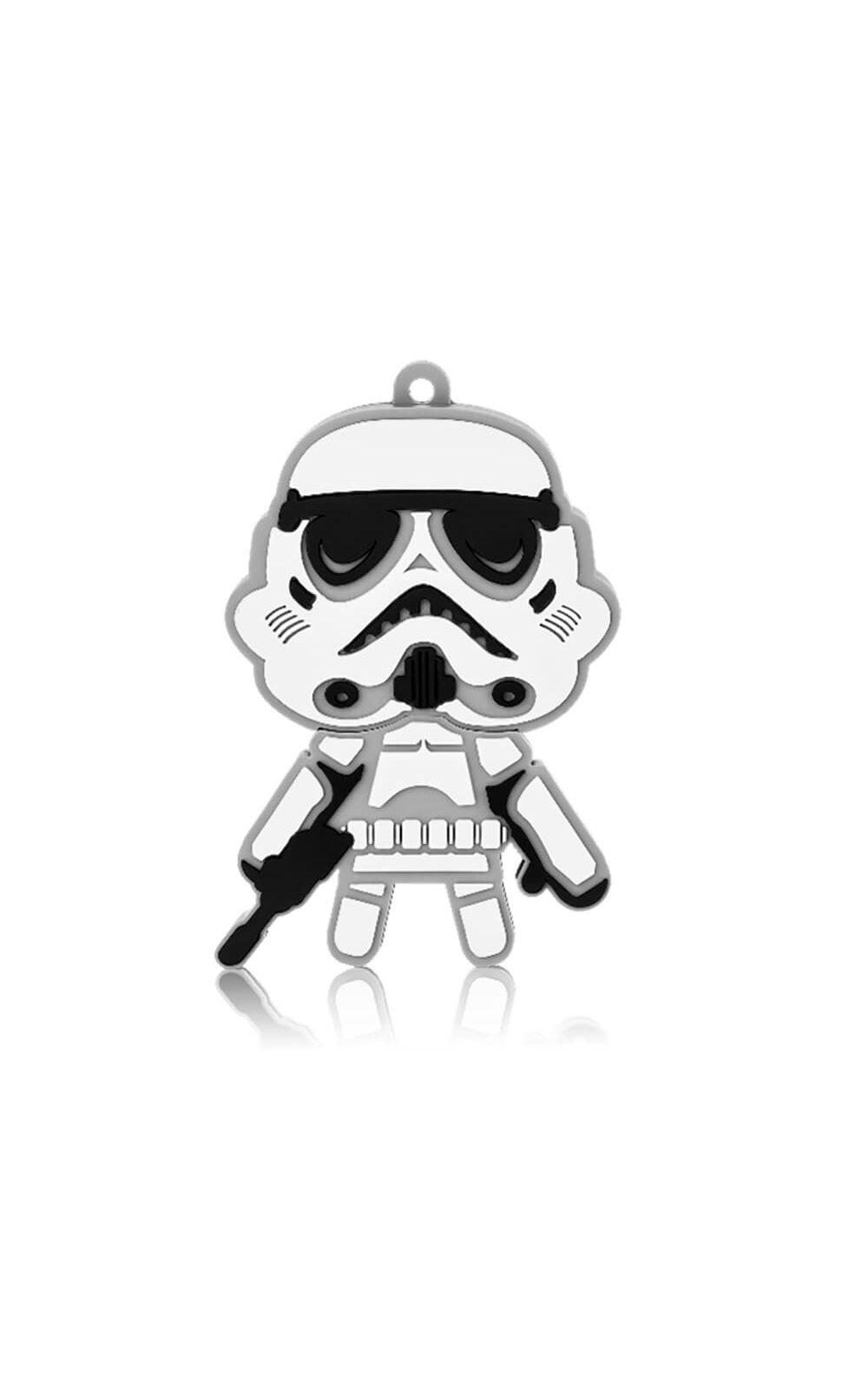 Foto 1 - Pen Drive Star Wars Stormtrooper 8GB USB Leitura 10MB/s e Gravação 3MB/s Multilaser - PD039