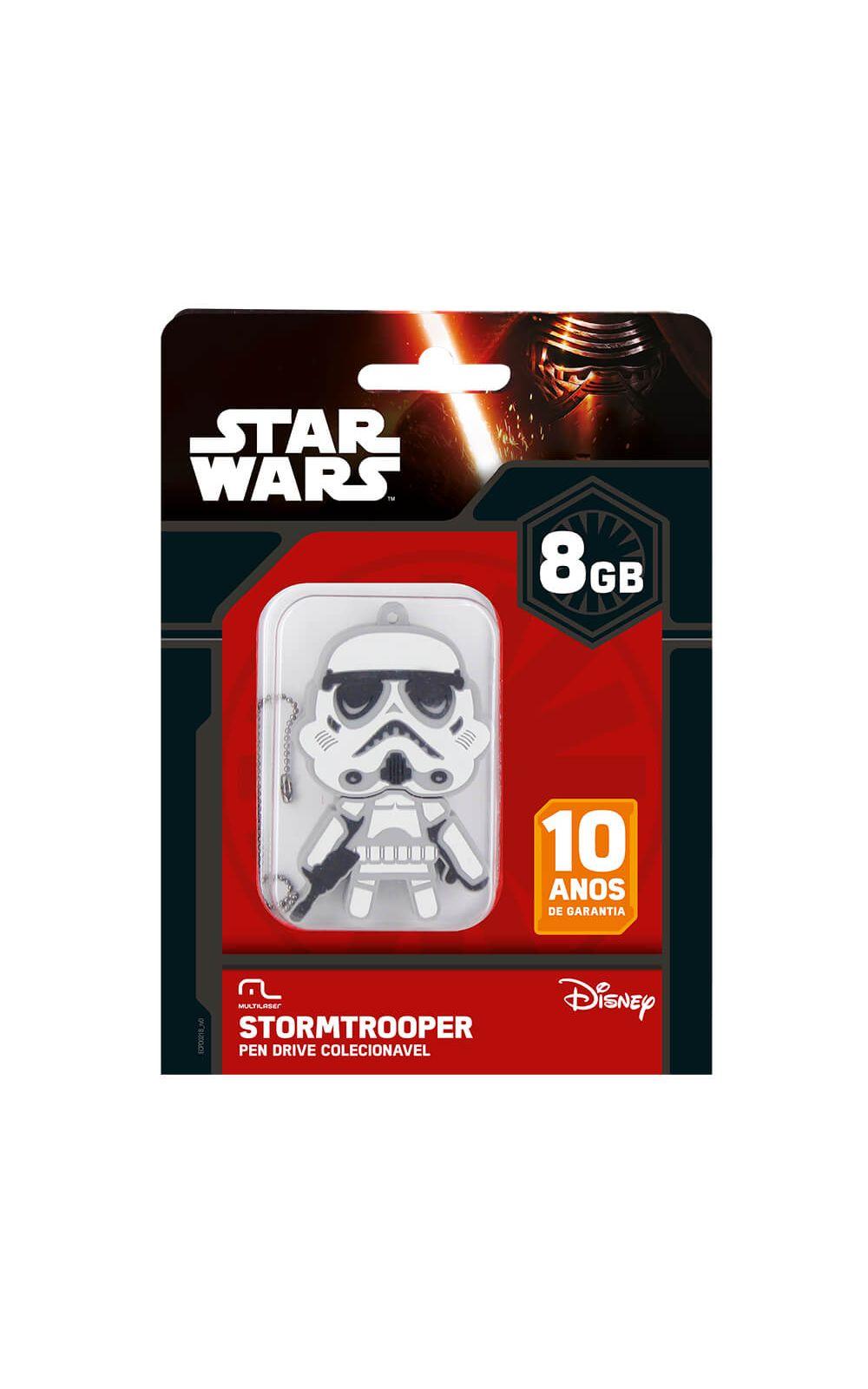Foto 2 - Pen Drive Star Wars Stormtrooper 8GB USB Leitura 10MB/s e Gravação 3MB/s Multilaser - PD039