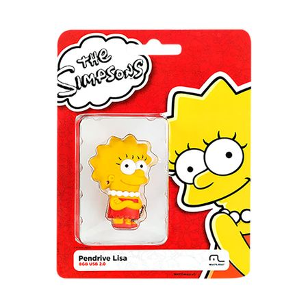 Foto 5 - Pendrive Multilaser 8GB Simpsons Lisa - PD072