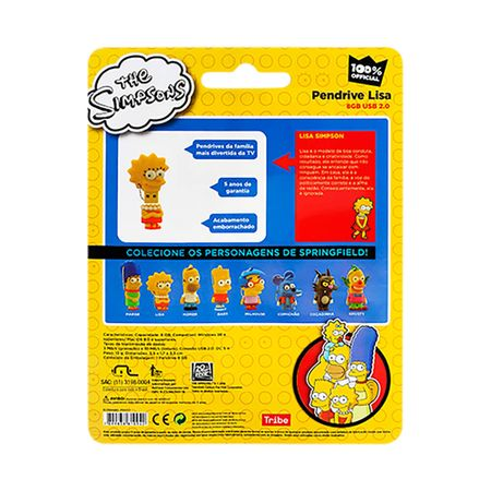 Foto 8 - Pendrive Multilaser 8GB Simpsons Lisa - PD072