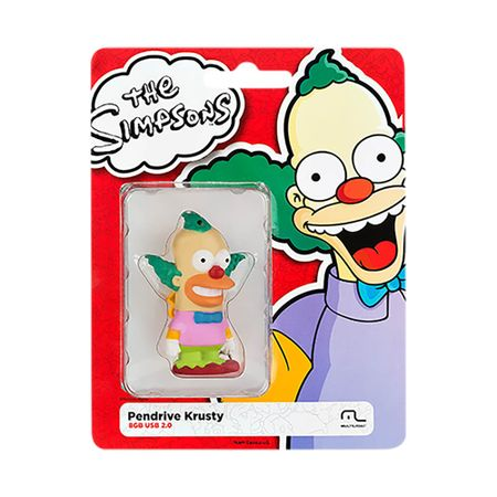 Foto 5 - Pendrive Multilaser 8GB Simpsons Krusty - PD074