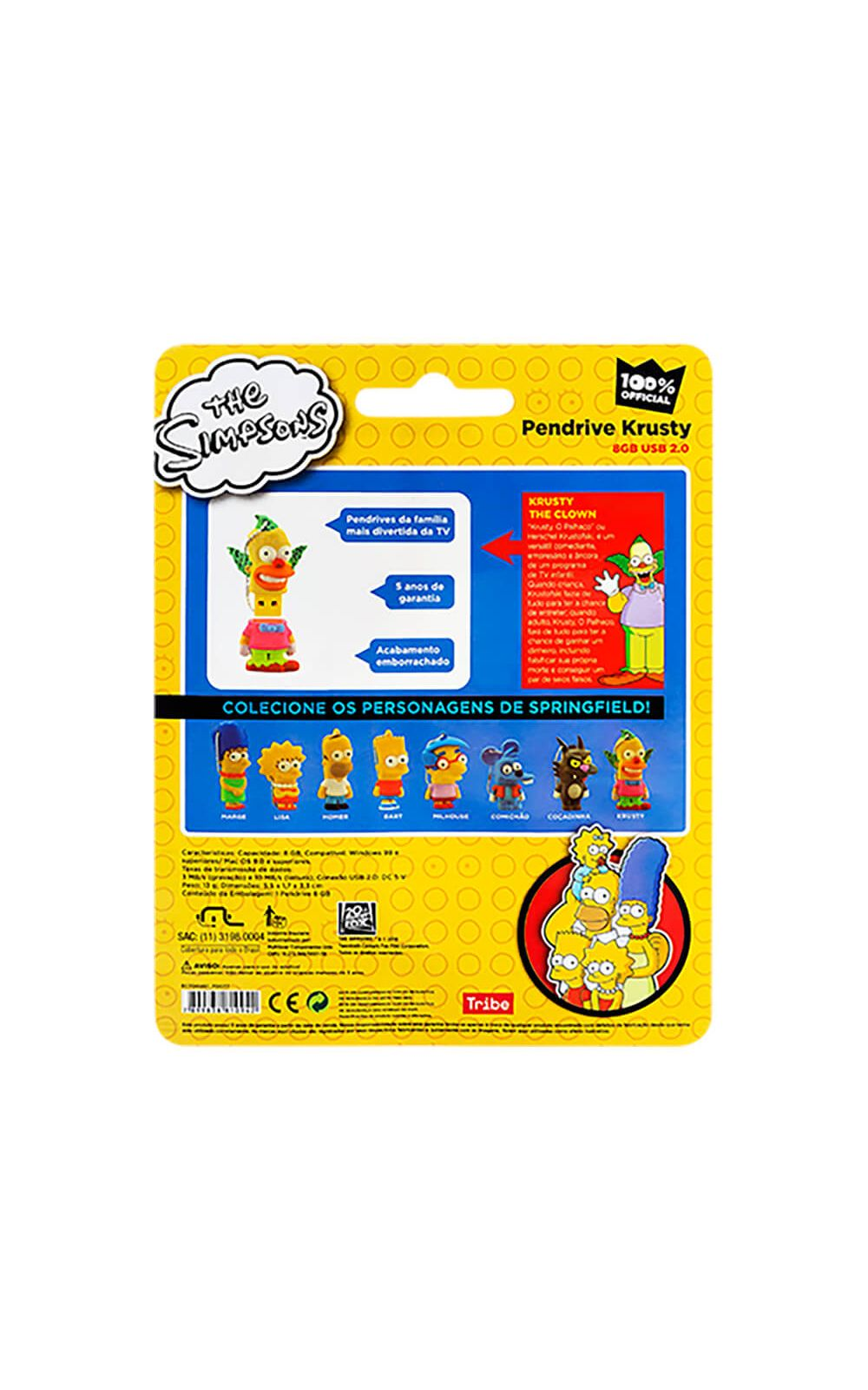 Foto 4 - Pendrive Multilaser 8Gb Simpsons Krusty - PD074