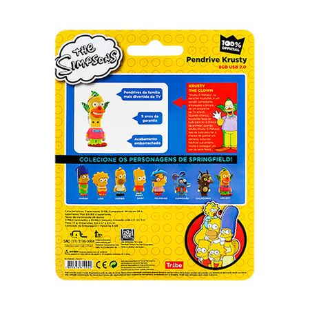Foto 8 - Pendrive Multilaser 8GB Simpsons Krusty - PD074