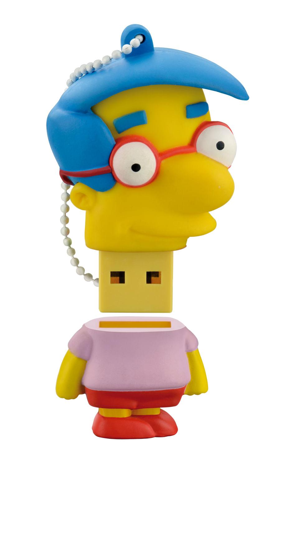 Pen Drive Milhouse Simpsons 8GB USB Leitura 10MB/s e Gravação 3MB/s Multilaser - PD075