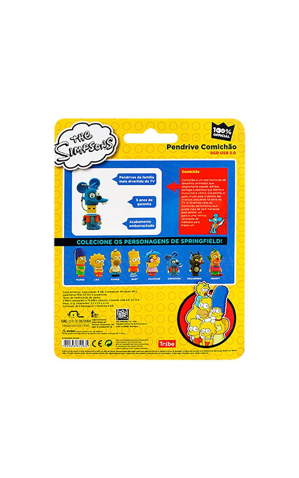 Foto 4 - Pendrive Comichão 8Gb Multilaser Simpsons - PD076
