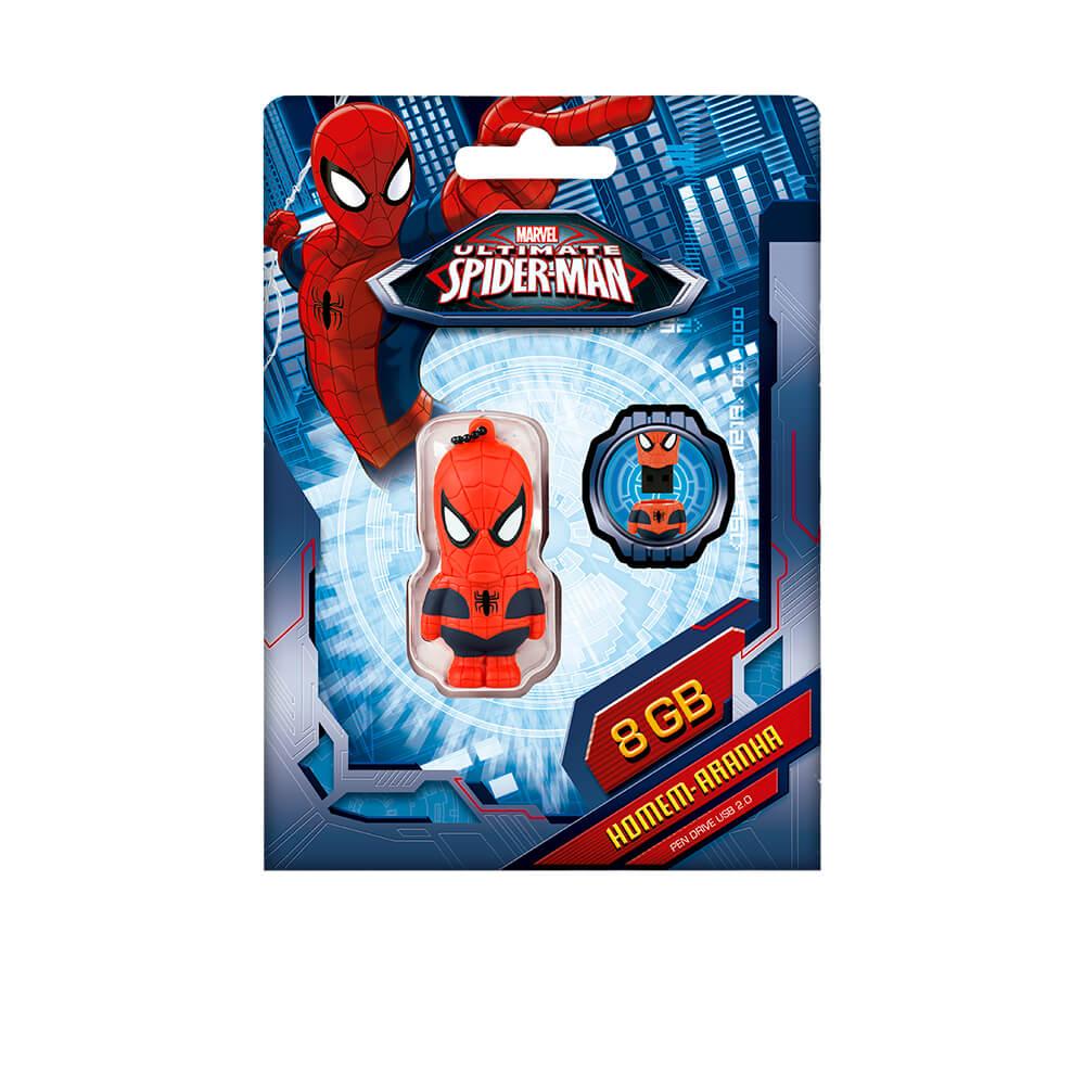 Pen Drive Marvel Vingadores Homem Aranha 8gb Usb Leitura 10mb S E
