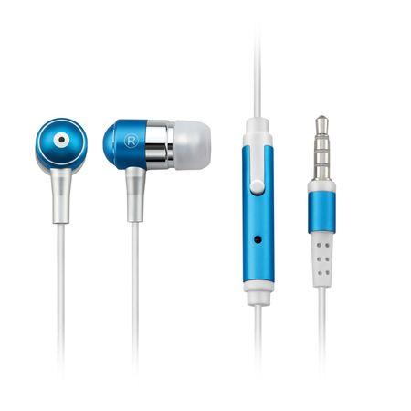 Fone de Ouvido Multilaser Auricular com Microfone Azul P2 - PH060