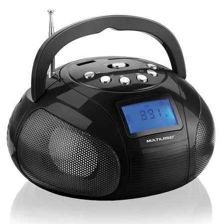 Rádio portátil Multilaser com entradas USB e cartão SD preto - SP145