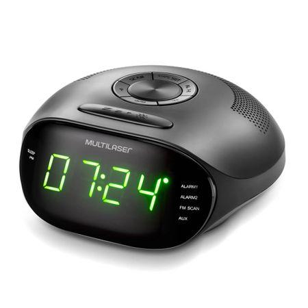 Caixa De Som Radio Relogio 5w LED Verde Bivolt - SP202