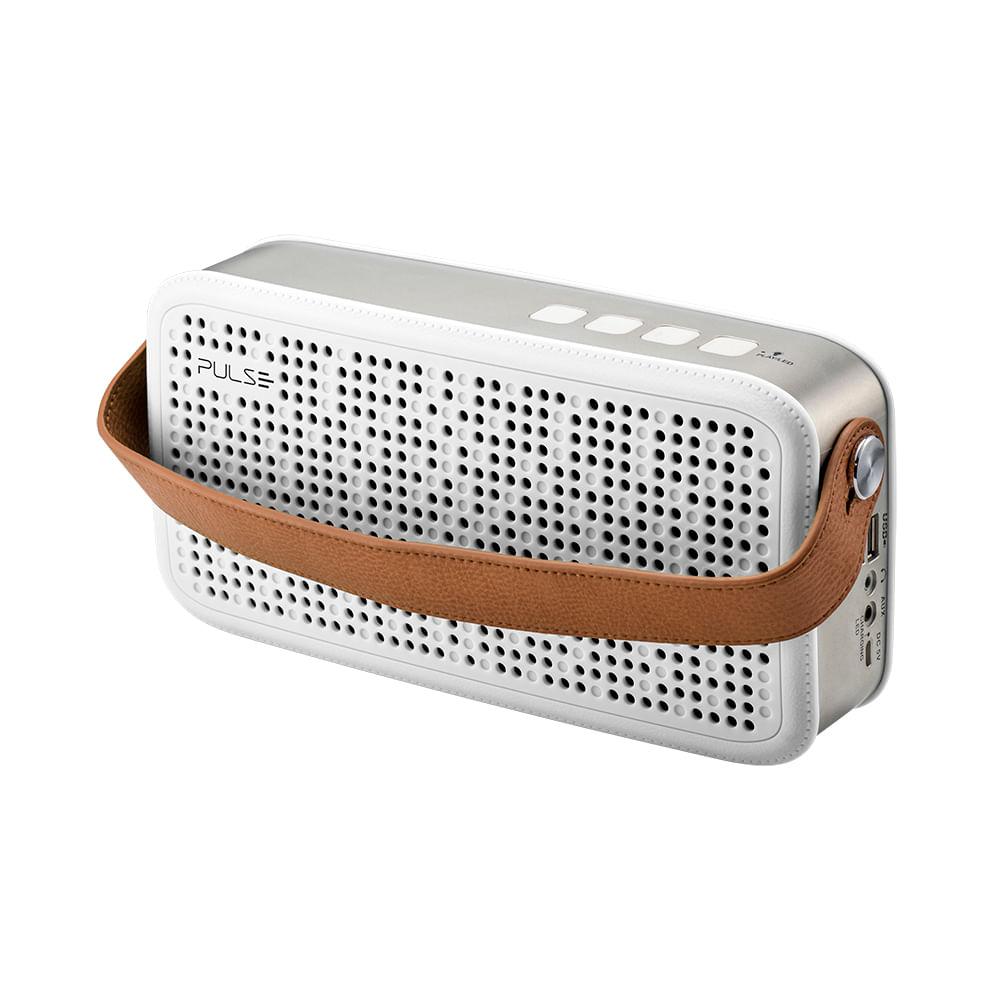 Caixa De Som Bluetooth Hands Free Pulse Branco - SP248