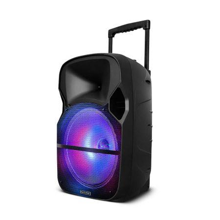 Caixa Amplificadora Multilaser 150W Rms Bluetooth + Microfone Sem Fio - SP259