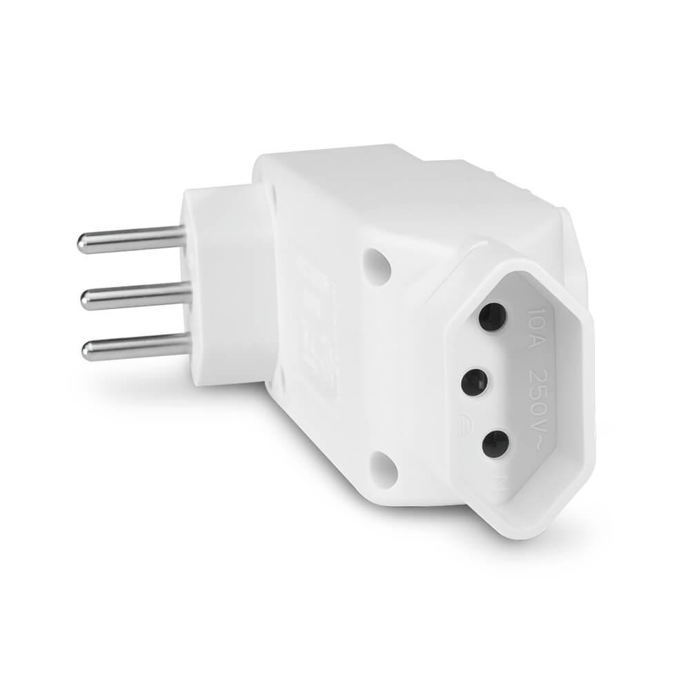Adaptador L Multilaser De Energia Novo Padrão 4 Tomadas - WI246