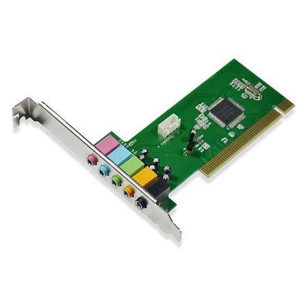 Placa de Som Multilaser com Barramento PCI de 32 Bits e Saída de Áudio 5.1 -...
