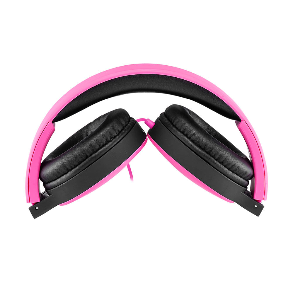Headphone Dobrável New Fun P2 Multilaser Rosa - PH271