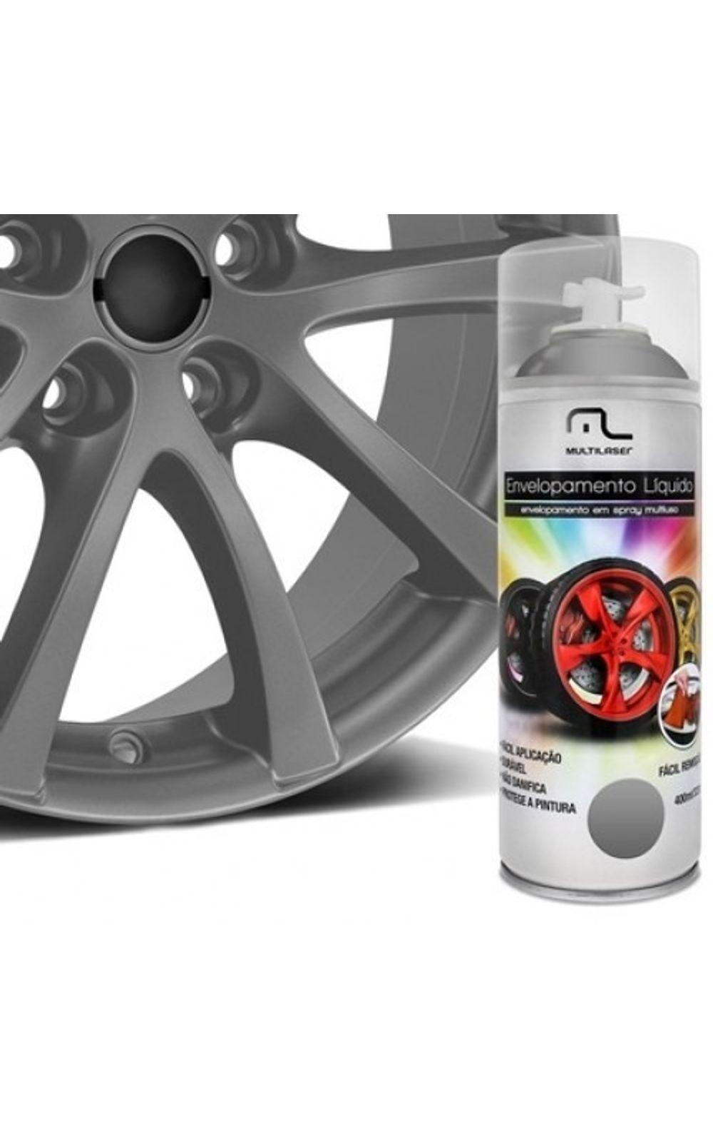 Foto 1 - Spray de Envelopamento Multilaser Liquido Grafite 400ml - AU429