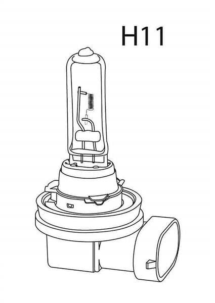 Lâmpada Linha Pesada H11 24V 70W Comum Unitária Multilaser - AU879