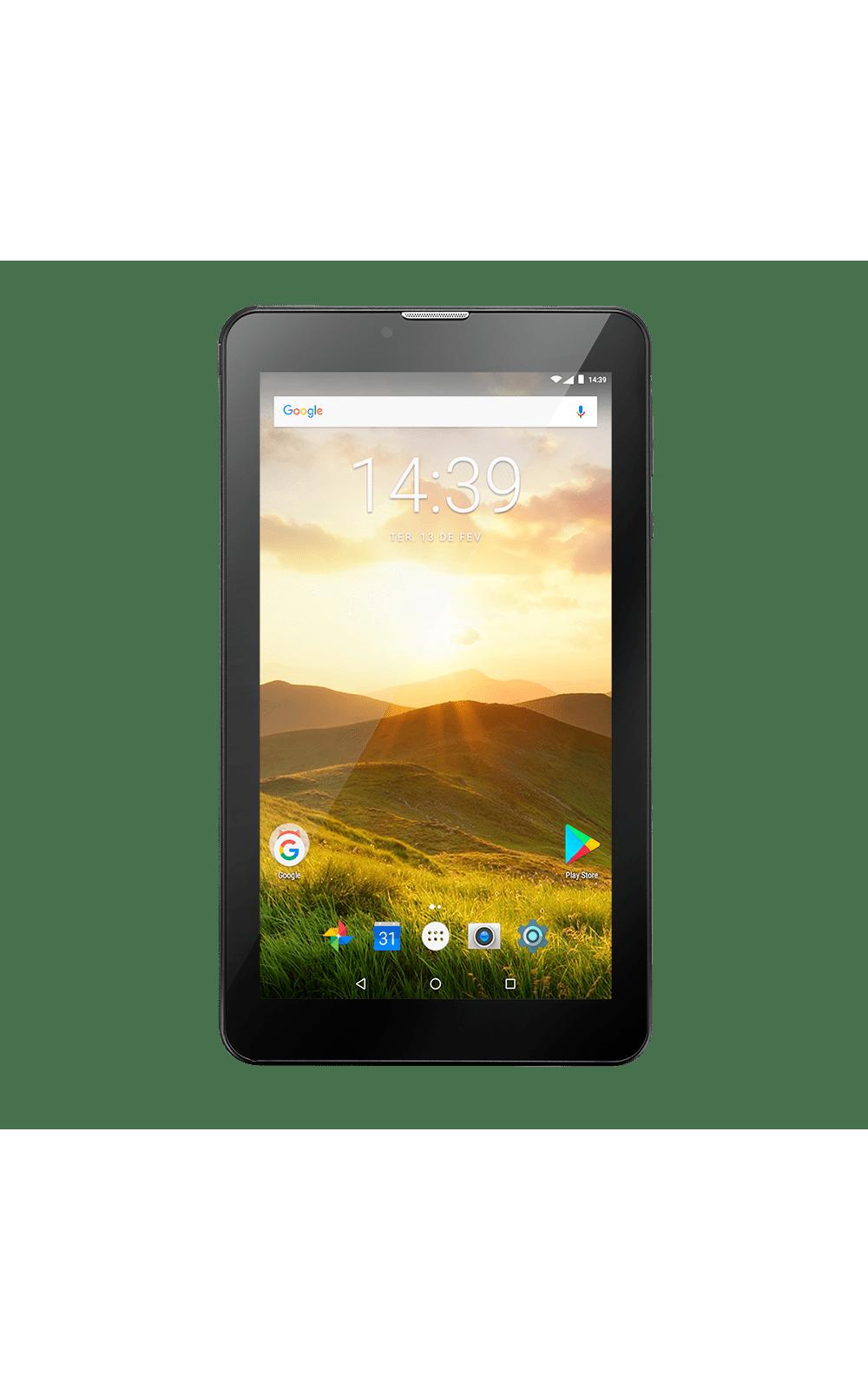 Foto 1 - Tablet Multilaser M7 4G Plus Quad Core 1GB 8GB Tela 7 Pol. Android Dual Câmera Preto - NB285