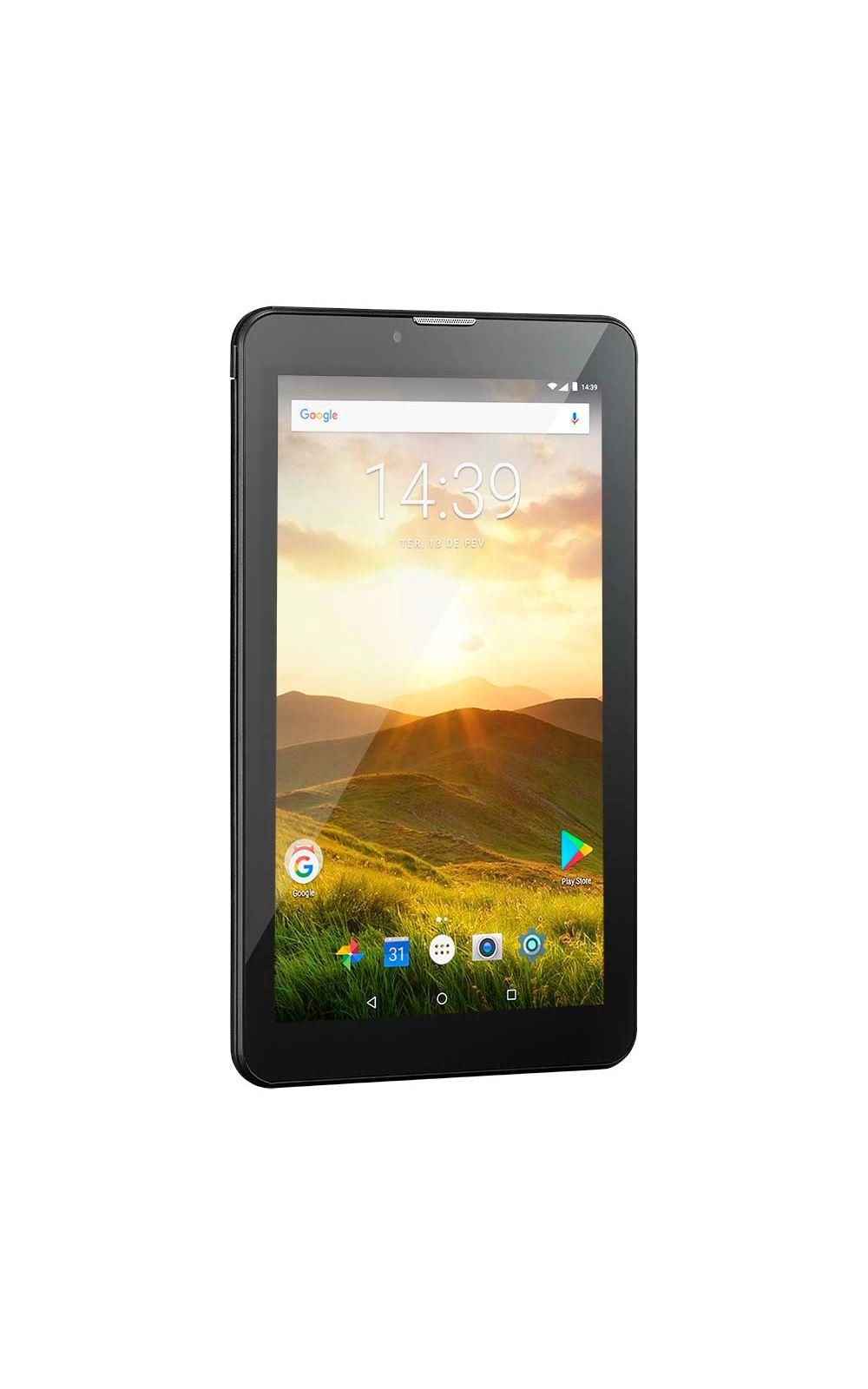 Foto 2 - Tablet Multilaser M7 4G Plus Quad Core 1GB 8GB Tela 7 Pol. Android Dual Câmera Preto - NB285