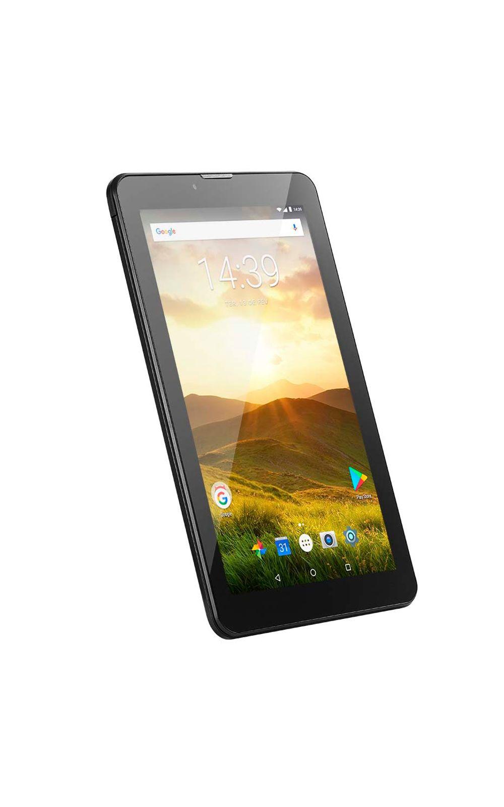 Foto 7 - Tablet Multilaser M7 4G Plus Quad Core 1GB 8GB Tela 7 Pol. Android Dual Câmera Preto - NB285