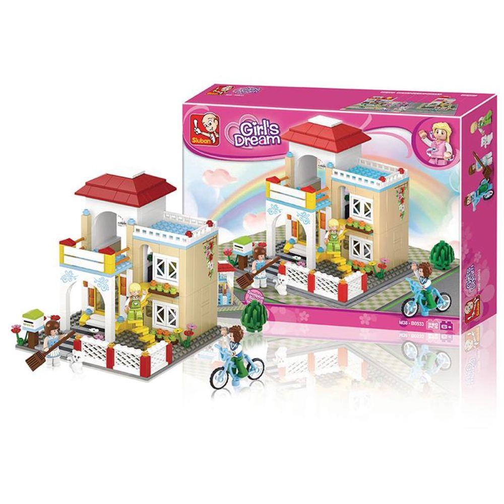 Blocos De Montar Casa Girls Dream 380 Peças Indicado Para 6 Anos
