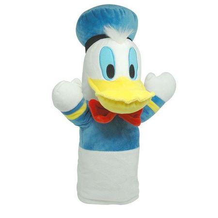 Fantoche de Pelúcia Pato Donald 28cm Azul/Branco Indicado para +4 Anos...