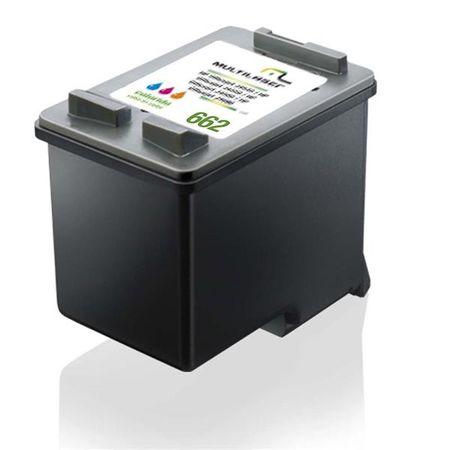 Cartucho Multilaser Jato Compatível C/Hp Mod. 662 Colorido - CO662C