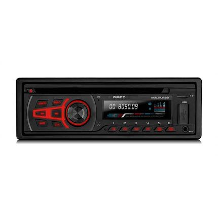 4d2733c7c2b Som Automotivo Disco 1 Din Bluetooth Cd MP3 WMA 4x25WRMS Rádio FM + Entrada  Cartão SD + USB + AUX Multilaser - P3322 - lojamultilaser