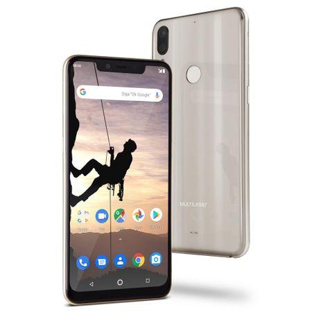 "Smartphone Multilaser MS80X 4G Android 8.1 Qualcomm 4GB RAM e 64GB Tela 6,2""HD..."