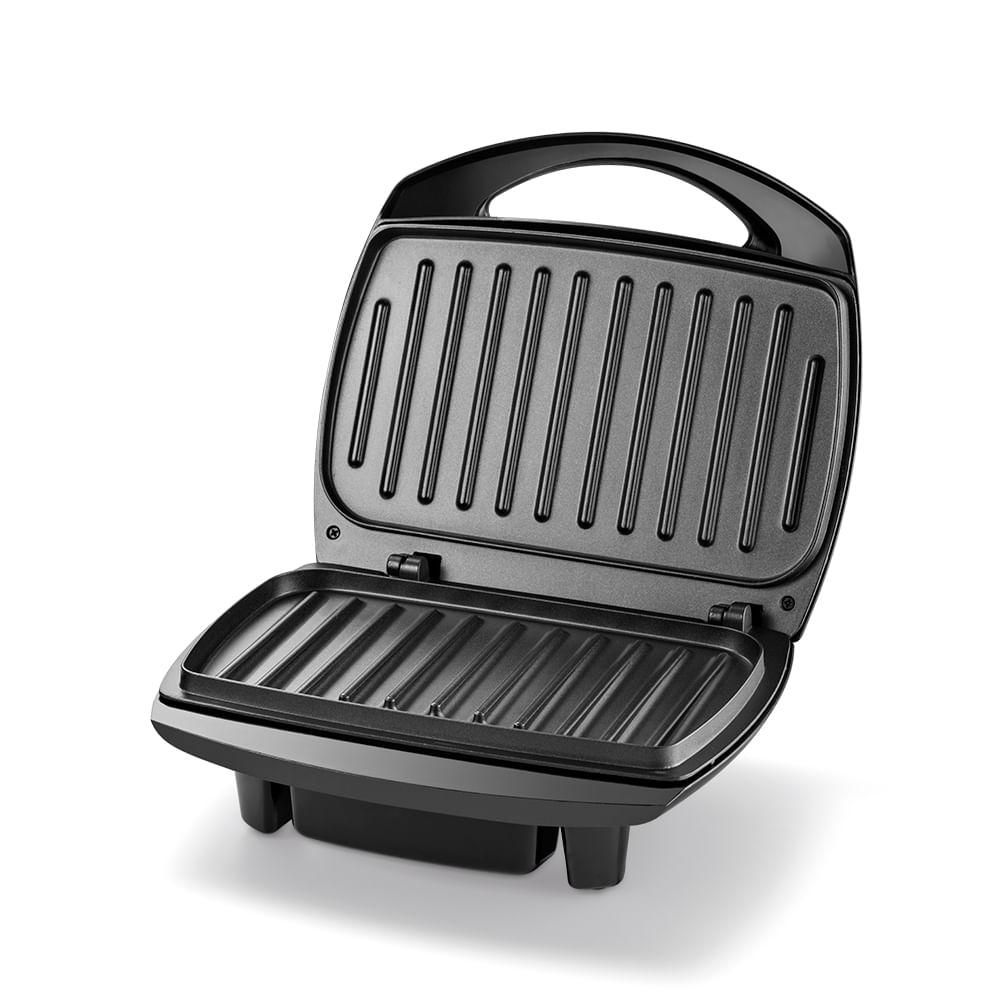 Sanduicheira Multilaser Super Grill Premium 220V 1200W Chapa Inclinada Antiaderente Preta - CE048