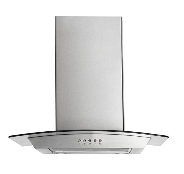 Coifa de Vidro Multilaser 220V Inox 234W 60cm 2 Lâmpadas de LED 3 Níveis de Sucção e Indicado para Fogões de até 4 Bocas - CE068